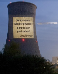 Greenpeace/RWE KKW Hamm/Keine neuen Kohlekraftwerke 09.10.2007