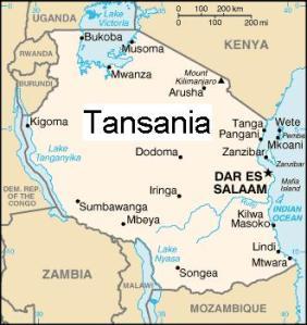 Tansania-Karte