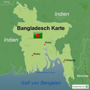 Karte-Bangladesch