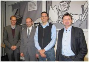 v.l.n.r.: Prof. Dr. Dirk Messner, Rainer Schmeltzer, Marcos da Costa und Johannes Auge.